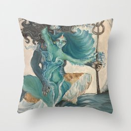 lord shiva and parvati Throw Pillow