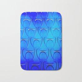 Blue Patterns Bath Mat