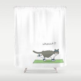 Yoga Cat by Caleb Croy Shower Curtain