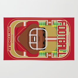 American Football Red and Gold - Enzone Puntfumbler - Hayes version Rug