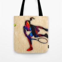 tennis Tote Bags featuring Tennis by marvinblaine