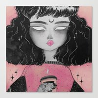 loll3 Canvas Prints featuring Beverly by lOll3