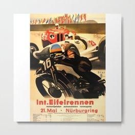 Nurburgring Race, vintage poster Metal Print