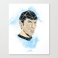 spock Canvas Prints featuring Spock by Josh Ln