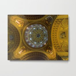 Domed. Metal Print