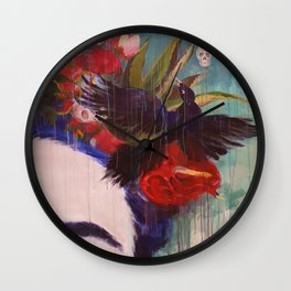 Flowers4 Wall Clock