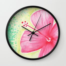 Hibiscus 5 Wall Clock