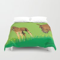 horses Duvet Covers featuring Horses by Anderssen Creative Imaging