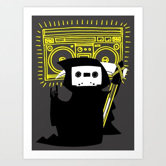 Death Mixtape Art Print