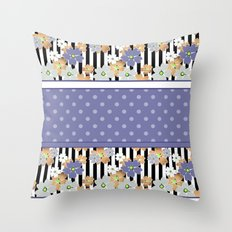 Floral pattern With textured polka dots. Throw Pillow