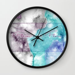 Flex and Flow - Tie Dyed, Water Colour, Motivation Wall Clock
