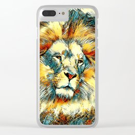 AnimalArt_Lion_20171005_by_JAMColorsSpecial Clear iPhone Case