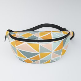 Geometry in Ocean and Sunshine Fanny Pack