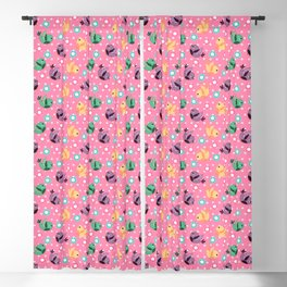 Freely Birds Flying - Fly Away Version 3 - Taffy Pink Color Blackout Curtain