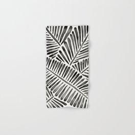 Tropical Banana Leaves – Black Palette Hand & Bath Towel