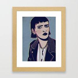 Rock Betty Framed Art Print
