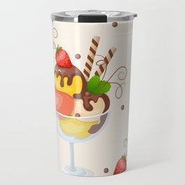 strawberry ice cream Travel Mug