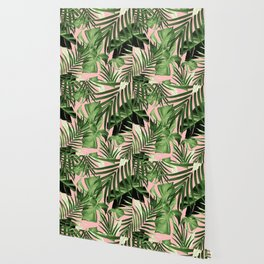 Tropical Jungle Leaves Pattern #11 #tropical #decor #art #society6 Wallpaper