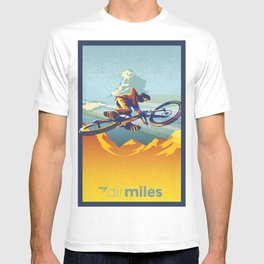 Retro Mountain Bike Poster/ Illustration / fine art print MY AIR MILES T-shirt