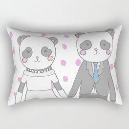 Wedding pandas Rectangular Pillow