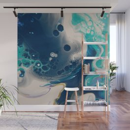 Day Dream Blues - Abstract Acrylic Art by Fluid Nature Wall Mural