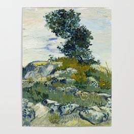 The Rocks by Vincent van Gogh Poster