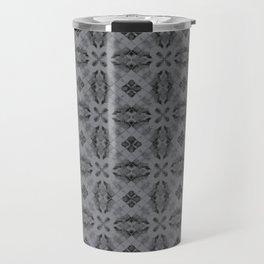 Sharkskin Diamond Floral Travel Mug