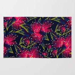 New Zealand Rata floral print (Night) Rug