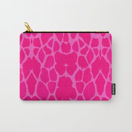 Pink Giraffe Skin Carry-All Pouch
