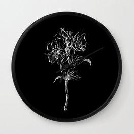 Black Primrose Wall Clock