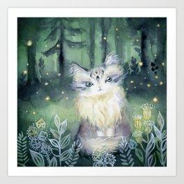 Trust Cat Art Print