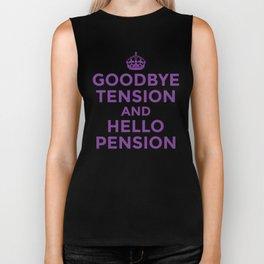 GOODBYE TENSION HELLO PENSION (Purple) Biker Tank