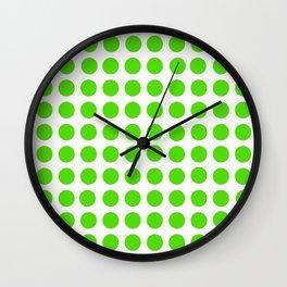Dots Pattern - Green Wall Clock