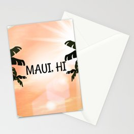 Maui, Hawaii Sunset Stationery Cards