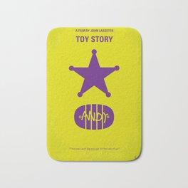 No190 My Toy Story minimal movie poster Bath Mat