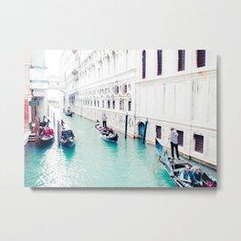 Venice Aqua I Fine Art Print Metal Print