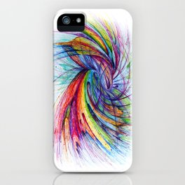 Kissing in color iPhone Case