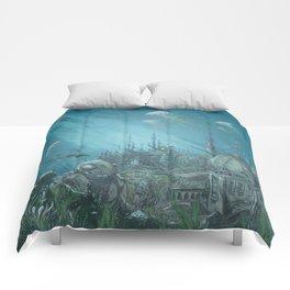 Sunken city Comforters