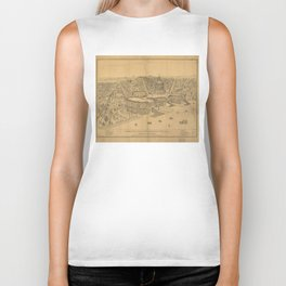 Vintage Pictorial Map of Washington D.C. (1872) Biker Tank