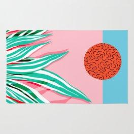 Freakin' - memphis throwback style palm springs neon art print 1980s vintage desert road trippin Rug