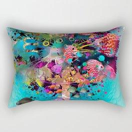 Surfing Palm Rectangular Pillow