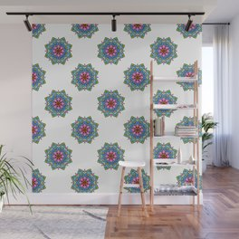 Colourful Botanical Mandala Wall Mural