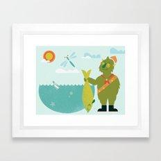 Harold Goes Fishing Framed Art Print