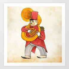 García, tuba Art Print