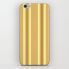 Beige Ocher  Vertical  Stripes  Background iPhone Skin