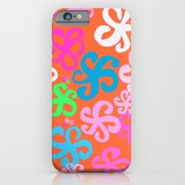 Crazy Orange Hibiscus iPhone Case