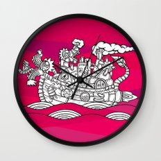 dragon ship Wall Clock
