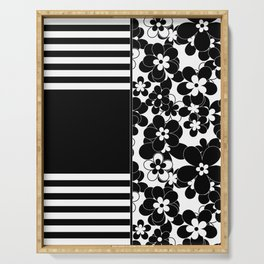 Black , white , mixed , patchwork Serving Tray