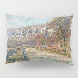 1880-Claude Monet-Road of La Roche-Guyon-60 x 73 Pillow Sham