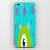 monsters inc iPhone & iPod Skins featuring Monsters Inc by amalchristine